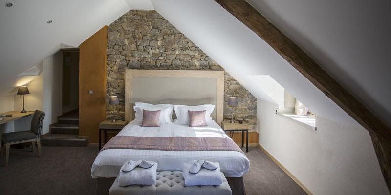 Chambre confort authentique de l'hôtel de l'abbaye