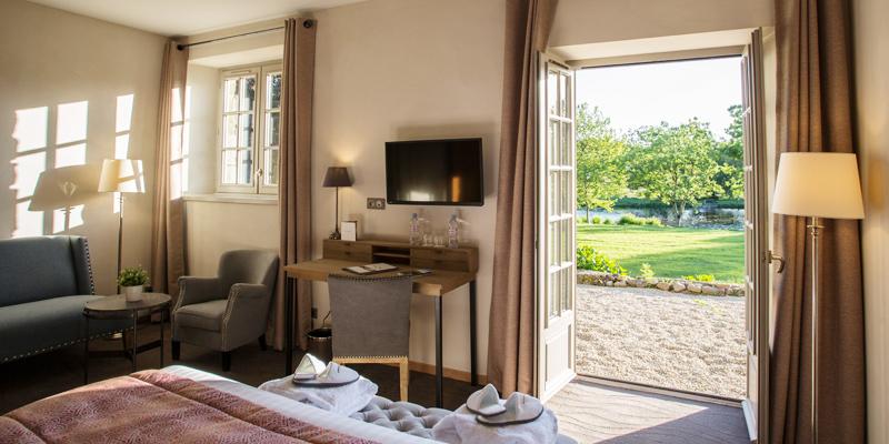 une des vues d'une chambre confort de l'hotel de l'Abbaye